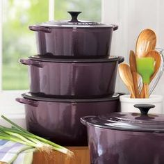 Le Creuset in Cassis... Cookware & Small Appliances... https://www.pinterest.com/wingsview/cookware-small-appliances/