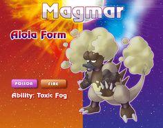 Tried to make a Magmar Alola form! (Based on Hawaii's Volcanic Fog phenomenon)