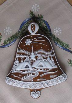 chaloupky z vánoční utěrky Crazy Cookies, Fancy Cookies, Iced Cookies, Royal Icing Cookies, Cupcake Cookies, Cupcakes, Christmas Gingerbread House, Christmas Holidays, Christmas Decorations
