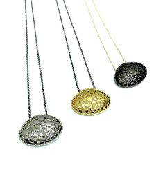 Pendant, silver, gold plated, geometric, minimal