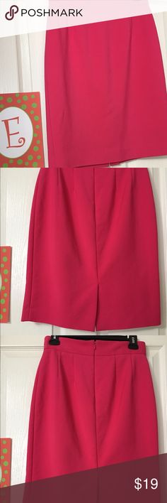 Antonio Melanie bright pink work skirt Quality all the way!  Truly that cute hot pink color with slit in the back. ANTONIO MELANI Skirts