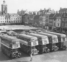 Northampton Corporation Transport buses on the Market Square Photographers Office, Northampton England, Routemaster, Bus Coach, Busse, Bus Station, Local History, Filming Locations, Public Transport