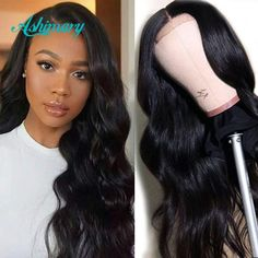 Ashimary Lace Closure Wigs Human Hair Brazilian Body Wave Lace Wigs for Black Women Pre Plucked with Baby Hair 180 Density Lace Closure, Deep Wave Brazilian Hair, Kinky Straight Hair, Body Wave Wig, Human Hair Lace Wigs, Wigs For Black Women, Synthetic Hair, Hair Looks, Lace Front Wigs