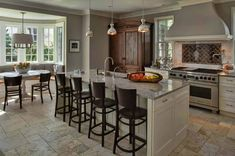 Collingwood North Shore Family Home - traditional - kitchen - chicago - Buckingham Interiors + Design LLC Warm Grey Walls, Warm Gray Paint, Grey Paint Colors, Gray Walls, Wall Colors, Colours, Design Page, Design Blog, Grey Kitchen Tiles