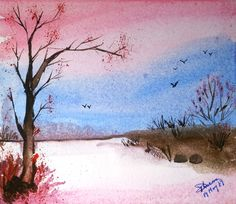 the dawn.. water color