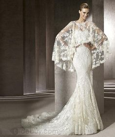Awesome Trumpet/Mermaid Floor-Length Lace Wedding Dreses 2012 New Style