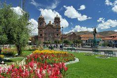 Compania Church on Plaza de Armas in central Cusco, Peru