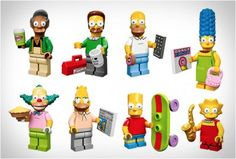 LEGO SIMPSONS MINIFIGURES - http://www.gadgets-magazine.com/lego-simpsons-minifigures/