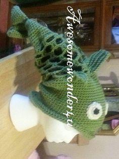 Fish Crochet Hat by awesomewonder4u on Etsy, $30.00