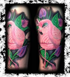 flamingo tattoo...Shelly Windholz/// Love this sincerely.