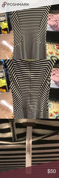Free People Striped Dress I ripped the tags off to find it was too short on me! I'm 5 9 and it hit right below my booty. This would be perfect for a shorter girl - it's adorable on! Has been in my closet for over a year never worn. It's from my mother's women's boutique. All sold but this one in a matter of a week! Free People Dresses Mini