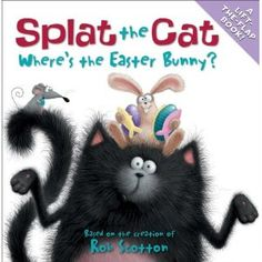 Book, Splat the Cat Where's the Easter Bunny? by Rob Scotton