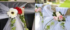 ¿Sillas plegables en una boda? ¡Por supuesto! Con el truco de decoración que proponemos, tu boda será espectacular. Glamour y funcionalidad, todo en uno. ;)
