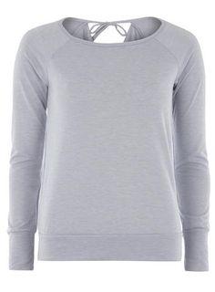 **DP Lounge Blue Cowl Back Sweatshirt