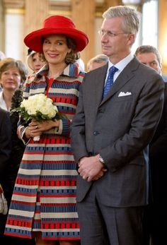 King Philippe of Belgium and Queen Mathilde of Belgium during a visit to the province of Brussels on 06.11.13. This visit in Brussels is the last of the royal couple.