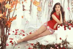 . .. Amazing, curvaceous Liza with the face of an angel and a perfect, shapely set of legs. Almost too good to be real...
