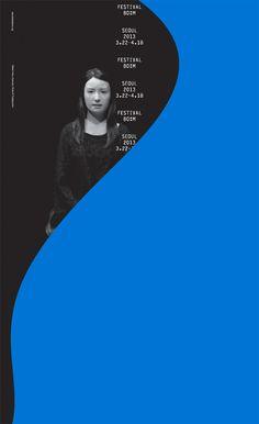 Poster for Festival Bo:m 2013 by korean duo Sulki & Min Graphic Design Posters, Graphic Design Typography, Graphic Design Illustration, Graphic Design Inspiration, Digital Illustration, Arte Do Piano, Layout Design, Print Design, Flyer Design
