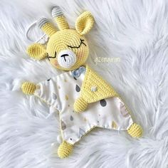 Mesmerizing Crochet an Amigurumi Rabbit Ideas. Lovely Crochet an Amigurumi Rabbit Ideas. Crochet Bear Patterns, Crochet Lovey, Crochet Baby Toys, Cute Crochet, Crochet For Kids, Baby Blanket Crochet, Amigurumi Patterns, Crochet Crafts, Crochet Dolls