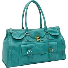 Jessica Simpson Madison Lg. Satchel Turquoise - Jessica Simpson Manmade Handbags - My collection from top #designers