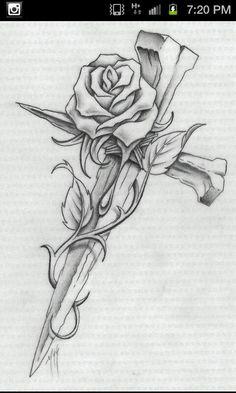 Cross Tattoos - Top 153 Designs and Artwork for the Best Cross Tattoo - Best . - Cross tattoos – top 153 designs and artwork for the best cross tattoo – best tattoo ideas - Future Tattoos, Love Tattoos, Beautiful Tattoos, Body Art Tattoos, Tattoo Drawings, Tattoos For Guys, Pencil Drawings, Tatoos, Tattoos With Roses