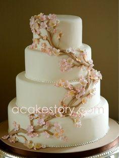 wedding cakes - Cherry Blossoms - Light Pink