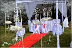 ślub w plenerze, ślub cywilny w plenerze, białe namioty, ślub w plenerze Zawiercie, dekoracje plenerowe śląsk