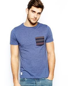 Native Youth T-Shirt With Contrast Aztec Pocket from ASOS