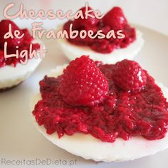 Receitas de Dieta: Cheesecake de Framboesas Light