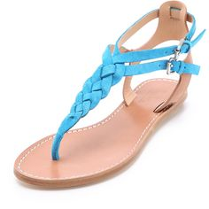 Belle by Sigerson Morrison Rank Braided Flat Sandals ($175) ❤ liked on Polyvore