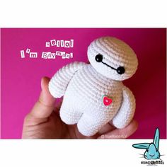 Cute toys and patterns here: wwww.etsy.com/shop/BlueRabbitLV #amigurumi #crochet #crochettoy #Baymax #crochetbaymax #amigurumibaymax #crochetpattern #pattern