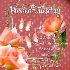 Blessed Tuesday. 2 Timothy 1:7