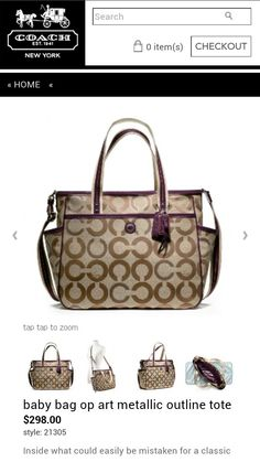 diaper bag designer sale 0rdt  Coach diaper bag