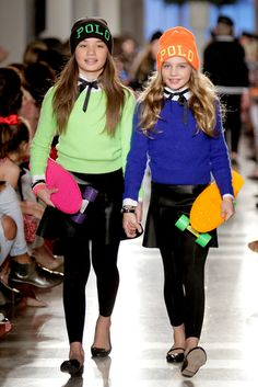 Preppy with a touch of leather. @Ralph Lauren  2014 Children's Runway Show  | MomTrends