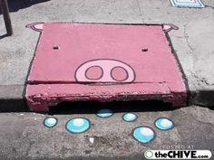 Street Art / Sewer Drain