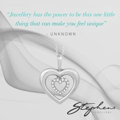 Show the world the beautiful and unique person you are with this stunning double heart pendant. Come in store or shop these styles online at http://www.stephensjewellers.com.au/brand/stephens?category=&stone_type=&metal_type=&search_query=&gender=&promotion= #Stephensjewellers #Jewellery #Gold #Rings #Aquamarine http://www.stephensjewellers.com.au/