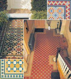 Victorian tiles.