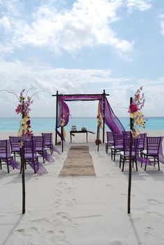 Take notice of the smooth sand that forms the pathway to your nuptial oasis.