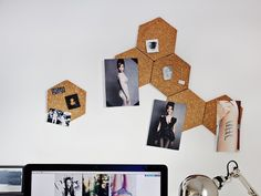 DIY-Anleitung: Bienenwand Pinnwand selber machen // diy tutorial: how to make your own honeycomb pinboard via DaWanda.com