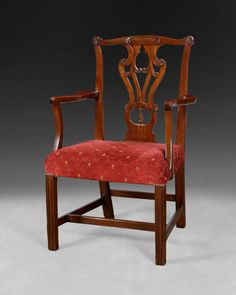 Chippendale period mahogany armchair dating from circa 1760