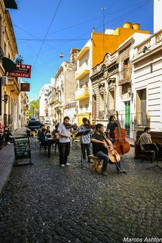 San Telmo Argentina, the birthplace of Tango music. World Street, Largest Countries, Most Beautiful Cities, Family Travel, Fun Travel, South America, The Neighbourhood, Places To Visit, Bs As