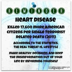 Statistics Show that in the Real American Enemy was Heart Disease Heart Disease, Statistics, Infographics, Cosmetics, Foods, American, Healthy, Makeup, How To Make