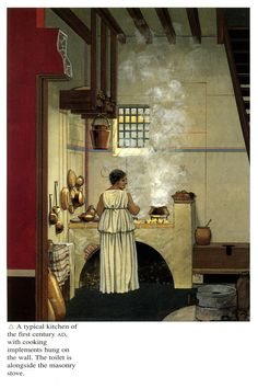 Reconstruction picture of a Roman kitchen