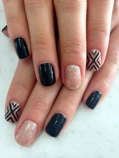 45 Catchy Sparkle Nails Design For Party Eve in 2016 - Latest Fashion Trends