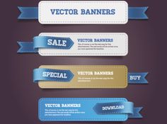 Vector Banner and Sales Label