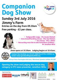 Companion Dog Show at Jimmy's Farm! #JimmysFarm #dogs #dogshows #AgeUK #charity