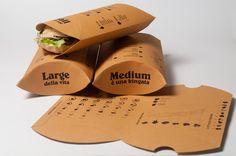 Porta panino - a packaging for a sandwich take-away.