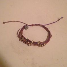 Pura Vida Platinum purple bracelet This multistranded bracelet is adorned with silver beads. It is adjustable. Pura Vida. Pura Vida Jewelry Bracelets