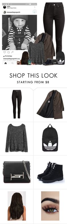 """""""picking up baby Freddie from his mom,for his party"""" by nblankenship ❤ liked on Polyvore featuring Gap, Topshop and Tod's"""
