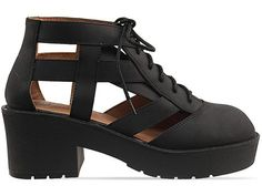 THOMB  Not Sorry - Totally bitching chunky cutout ankle boot with lace ups. Basically obsessed. Awesome anytime, anywhere