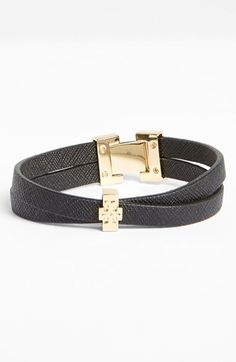 Tory Burch Crossover Leather Bracelet available at #Nordstrom